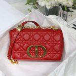 Dior M9241 Dior Small Dior Caro Bag Red - luxibagsmall