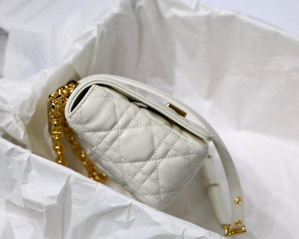 Dior M9241 Dior Small Dior Caro Bag White - luxibagsmall