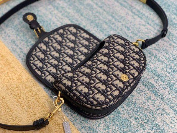 Dior M9317 Dior Bobby Small Crossbody Bag Oblique Jacquard Navy Blue - luxibagsmall