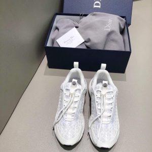 Dior Men's Women's B24 SNEAKER White Dior Oblique Canvas 3SN248 White - luxibagsmall