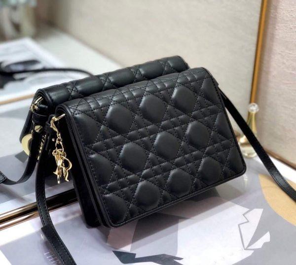 Dior S0855 Dior Lady Dior Pouchblack Ultramatte Cannage Calfskin Black - Voguebags