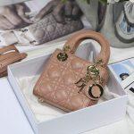 Dior S0856 MICRO LADY Dior Bag Tan Cannage Lambskin - luxibagsmall