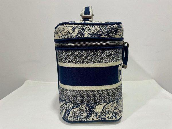 Dior S5480 DiorTravel Vanity Case Bag Navy Blue - Voguebags