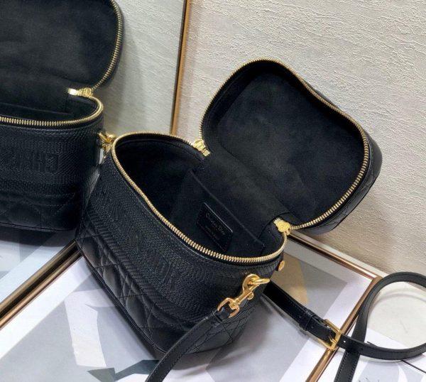 Dior S5488 Small Diortravel Vanity Case Lambskin Black - Voguebags