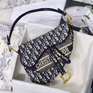 Dior M0446 Saddle Dior Oblique Pouch Belt M928 Navy Blue - luxibagsmall