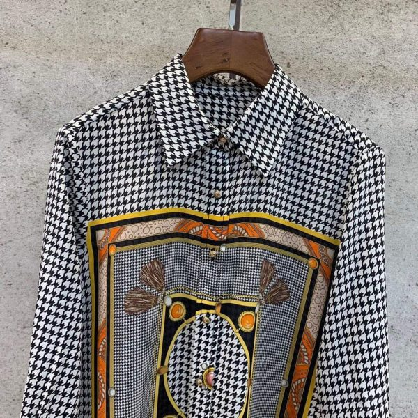 Dior Women's Blouse Silk Pinter Designer Dior Clothing 38082 - Voguebags