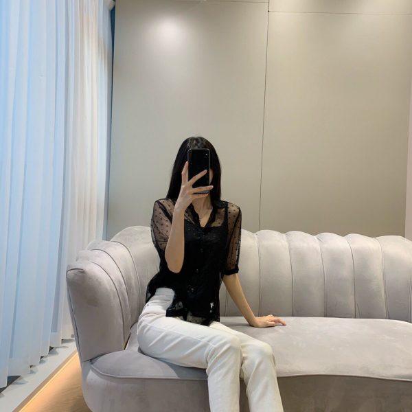 Dior Women's Shirts Designer Dior Clothing Black 38083 - luxibagsmall