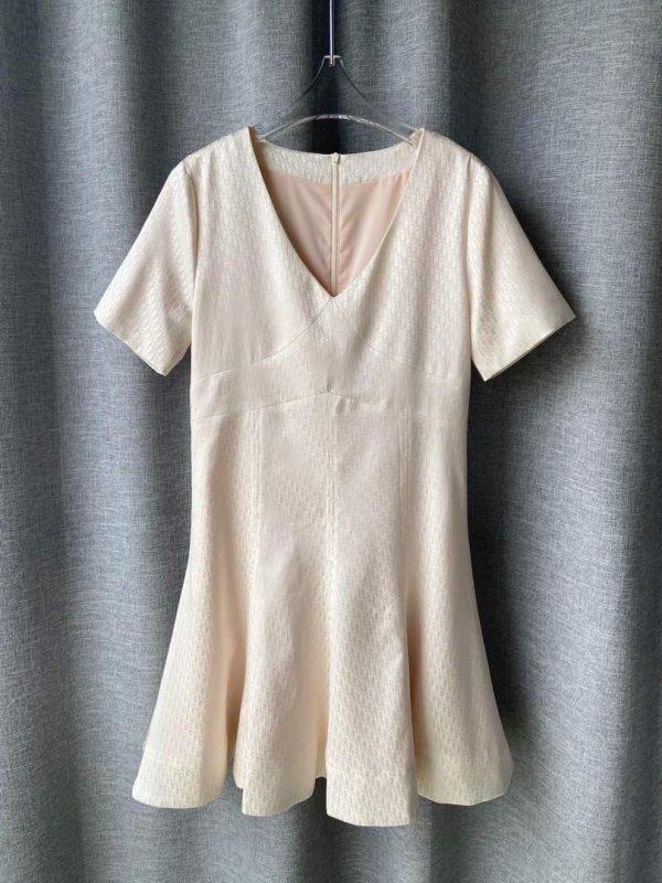 Dior Women's Silk Jacquard Dress Designer Dior Clothing 38081 - luxibagsmall
