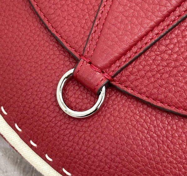 Fendi 655 Fendi Moonlight Shoulder Saddle Leather Bag Red - luxibagsmall