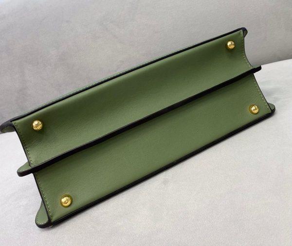 Fendi 70193 Peekaboo ISEEU MEDIUM Green Leather Bag - luxibagsmall