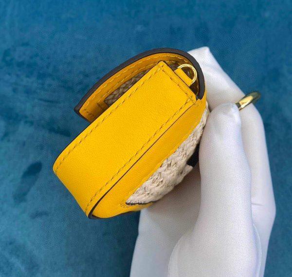 Fendi 7AR844 Nano Baguette Charm Beige Raffia Charm - luxibagsmall