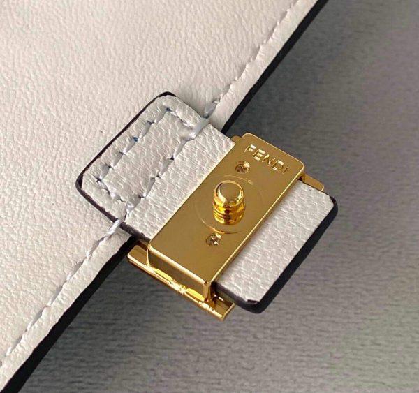 Fendi 7AR844 Nano Baguette Charm Blue Nappa Leather - luxibagsmall
