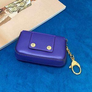 Fendi 7AR844 Nano Baguette Charm Purple Nappa Leather - luxibagsmall
