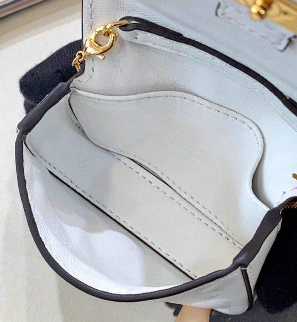 Fendi 7AR844 Nano Baguette Charm White Nappa Leather - luxibagsmall