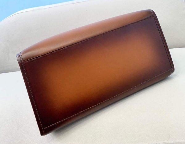 Fendi 8BH372 Sunshine Large Natural Coloured Leather Shopper Bag 80009L Dark brown - luxibagsmall