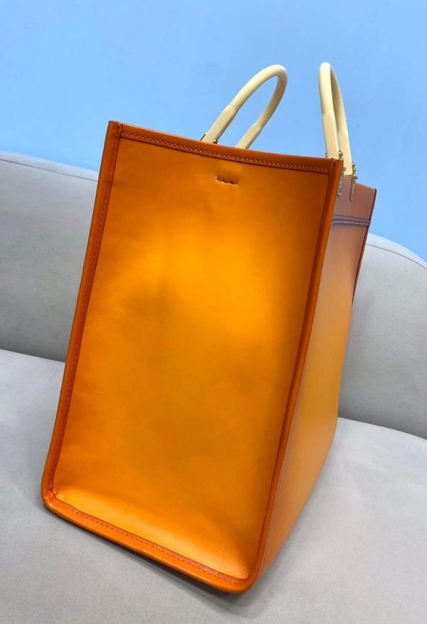 Fendi 8BH372 Sunshine Large Natural Coloured Leather Shopper Bag 80009L Brown - luxibagsmall