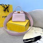 Fendi 8BN320 Peekaboo ICONIC XS Light Purple Nappa Leather 8328 Bag - luxibagsmall