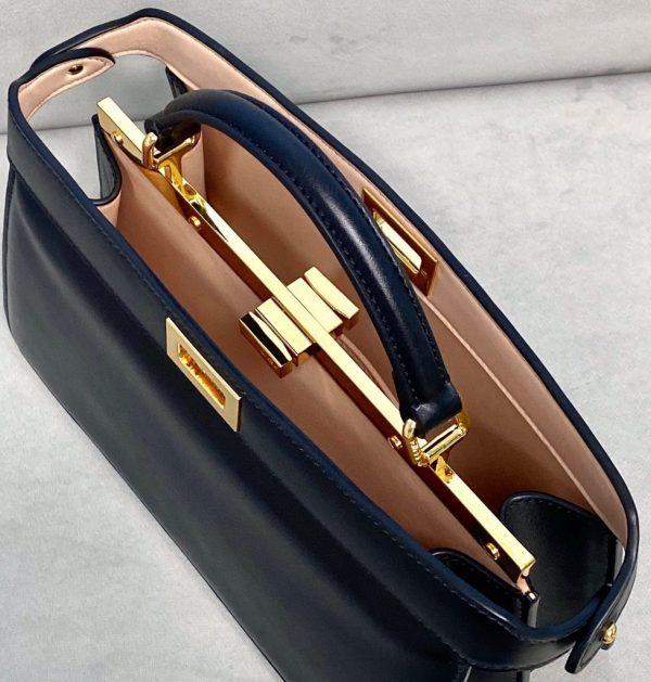 Fendi 8BN323 Peekaboo ISEEU EAST-WEST Black Leather 70193S Bag - luxibagsmall