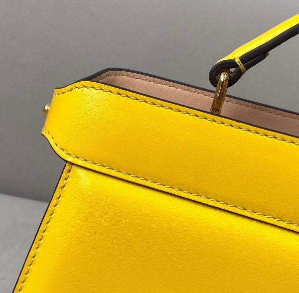 Fendi 8BN323 Peekaboo ISEEU EAST-WEST Yellow Leather 70193S bag - luxibagsmall
