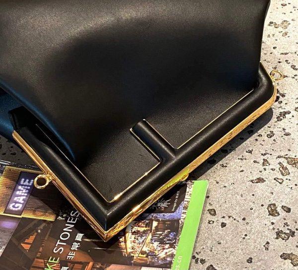Fendi 8BP127 FENDI FIRST Medium Black leather bag - luxibagsmall