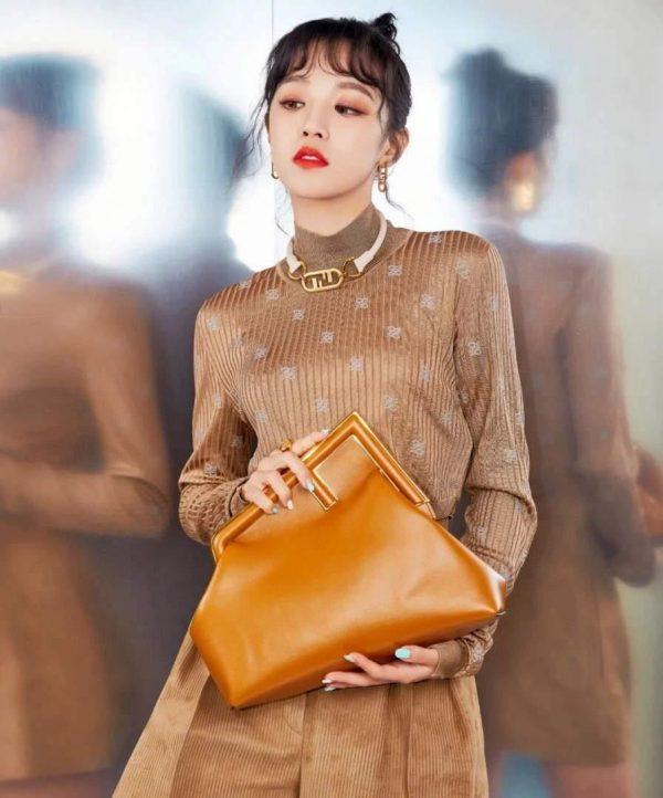 Fendi 8BP127 FENDI FIRST Medium Brown leather bag - luxibagsmall