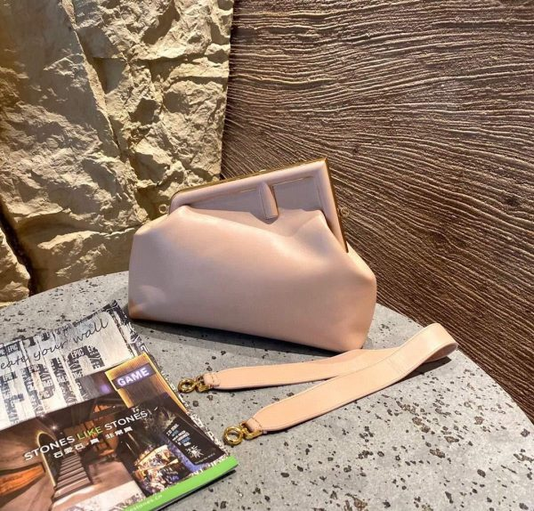 Fendi 8BP127 FENDI FIRST Medium Pink leather bag - luxibagsmall