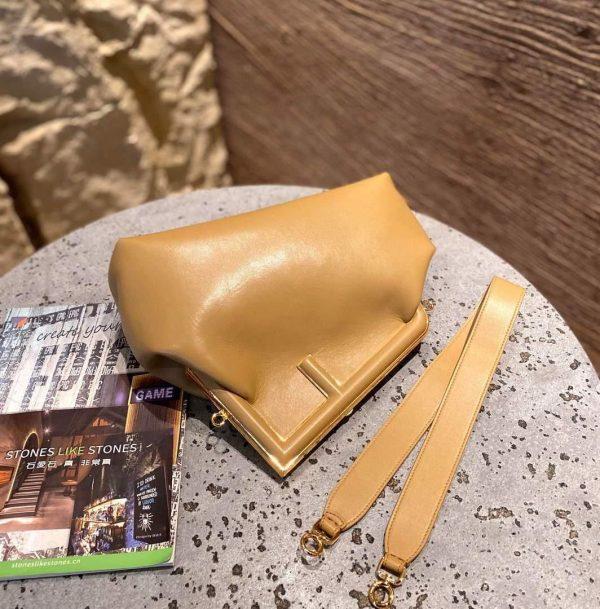 Fendi 8BP127 FENDI FIRST Medium Tan leather bag - luxibagsmall