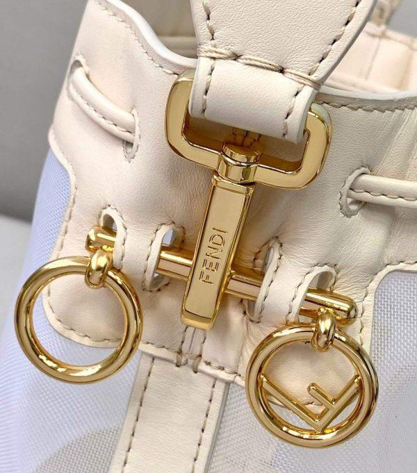 Fendi 8BS010 Mon Tresor Leather And Mesh Mini Bag 8361 Beige - luxibagsmall