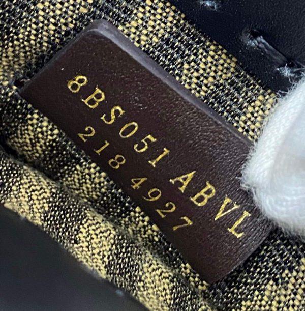 Fendi 8BS051 Mini Sunshine Shopper Leather Bag 8376A Black - luxibagsmall