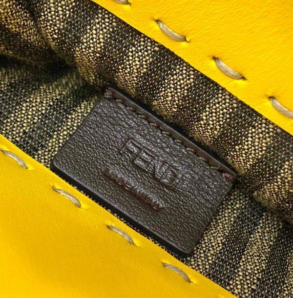 Fendi 8BS051 Mini Sunshine Shopper Leather Bag 8376A Yellow - luxibagsmall