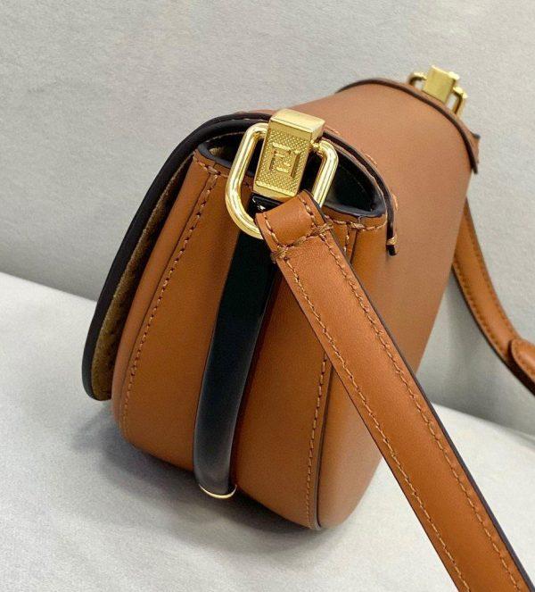 Fendi 8BT346 Moonlight Shoulder Brwon Leather Bag - Voguebags