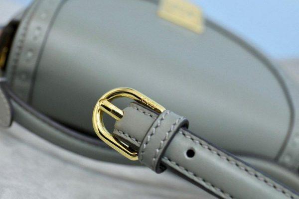 Fendi 8BT346 Moonlight Shoulder Gray Leather Bag - Voguebags
