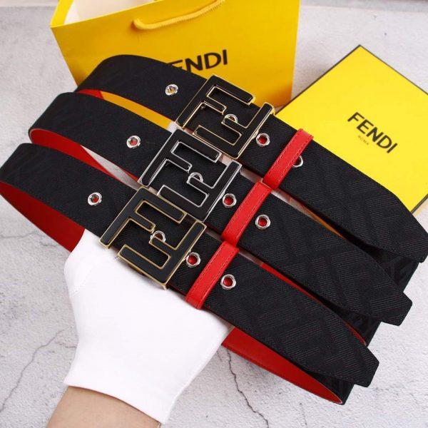 Fendi Belts Designer FF Buckle Leisure Belt Wide 3.8CM AA0462 - luxibagsmall