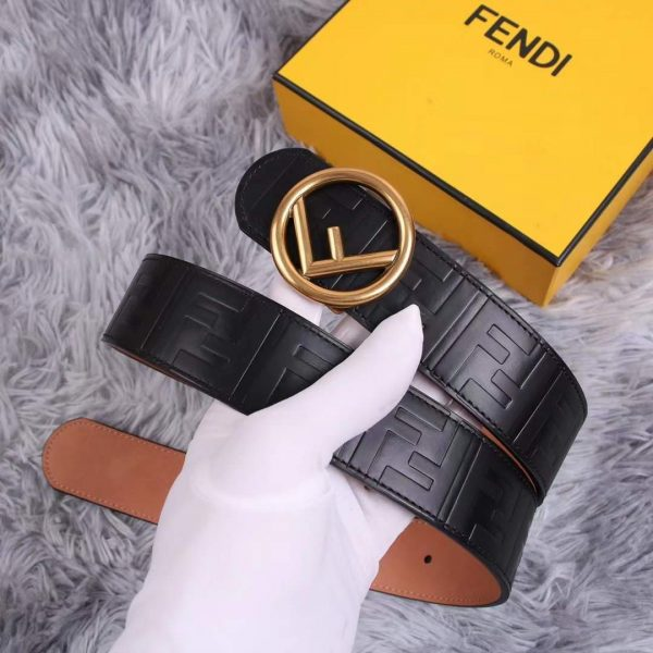 Fendi Belts Designer FF Buckle Leisure Belt Wide 3.8CM AA0482 - luxibagsmall