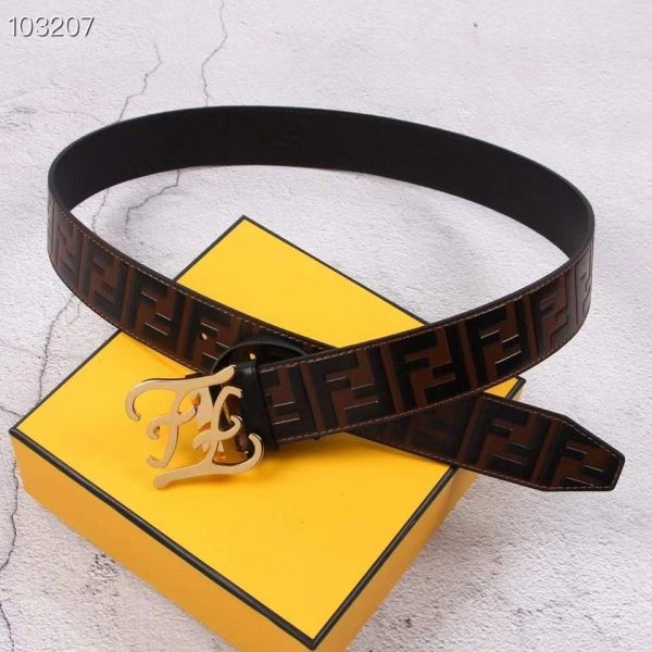 Fendi Belts Designer FF Buckle Leisure Belt Wide 3.8CM AA0489 - luxibagsmall