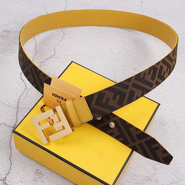 Fendi Belts Designer FF Buckle Leisure Belt Wide 3.8CM AA0467 - luxibagsmall
