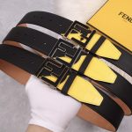 Fendi Belts Designer FF Buckle Leisure Belt Wide 3.8CM AA0475 - luxibagsmall