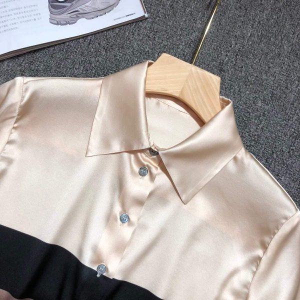 Fendi Blouse Silk White Designer Fendi Clothing 38075 - Voguebags