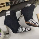 Fendi Boots Designger Fendi Short Shoes Women 81902 Black and White - luxibagsmall