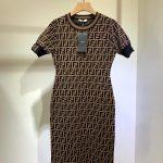 fendi-womens-dress-designer-fendi-ff-motif-fitted-midi-dress-fzd753a5-brown-1