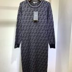 fendi-womens-dress-designer-fendi-ff-motif-fitted-midi-dress-fzd753a5-brown-10