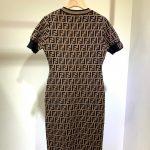 fendi-womens-dress-designer-fendi-ff-motif-fitted-midi-dress-fzd753a5-brown-9