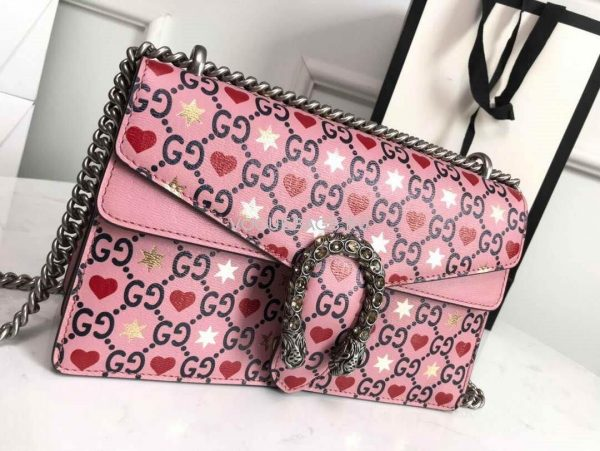 Gucci 400249 Dionysus Small Shoulder Bag Pink - luxibagsmall