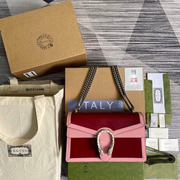 Gucci 400249 Dionysus Shoulder Bag Red Pink - luxibagsmall