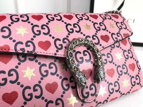 Gucci 401231 Gucci Dionysus GG Mini Chain Bag Pink - luxibagsmall