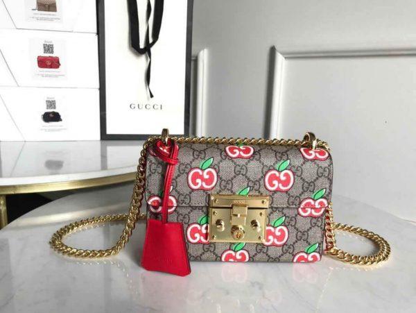 Gucci 409487 Padlock small GG Shoulder Bag - luxibagsmall