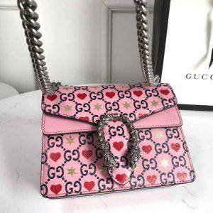 Gucci 421970 Dionysus Mini Shoulder Bag Pink - luxibagsmall