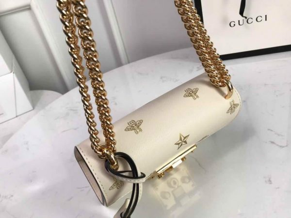 Gucci 432182 Padlock Bee Star small Shoulder Bag Beige - luxibagsmall