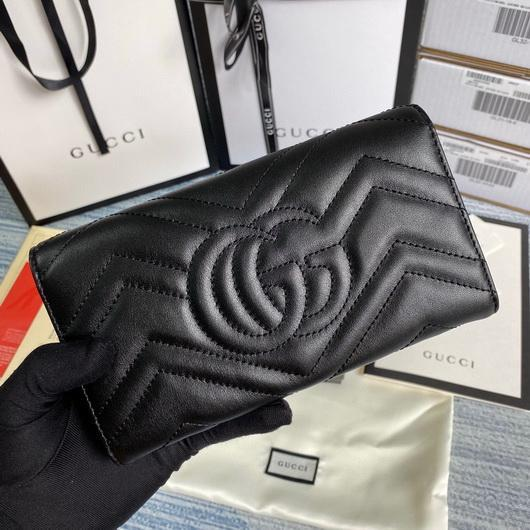 Gucci 443436 GG Marmont Continental Wallet Black - luxibagsmall