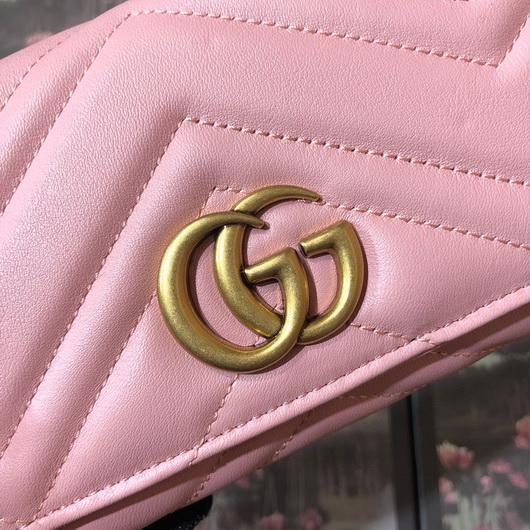 Gucci 443436 GG Marmont Continental Wallet Pink - luxibagsmall